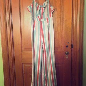 Romeo & Juliet striped one piece pant suit